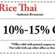 Rice Thai Authentic Restaurant - Dunwoody, GA