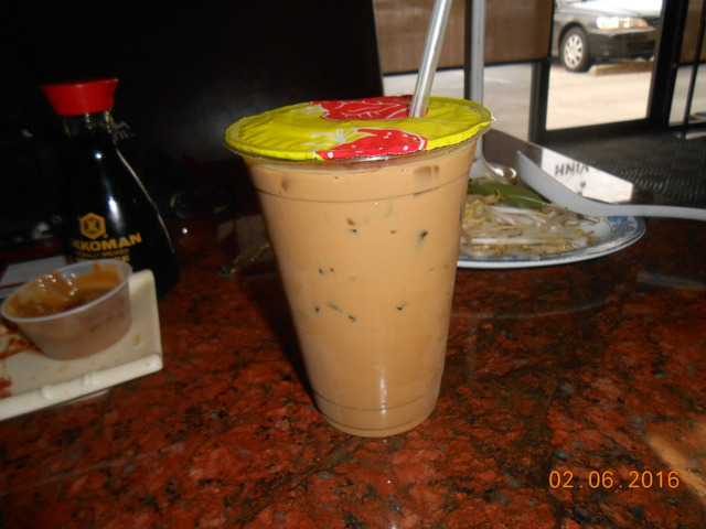 ice coffee at Pho Vinh