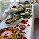 Georgeous display of the wedding buffet we attended at a home in Abingdon, that Nancy's catered - Finger food buffet at Nancy's Fancy's Cakes & Catering