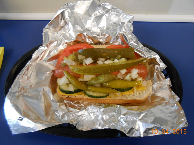 chicago dog at Beef Depot and Deli