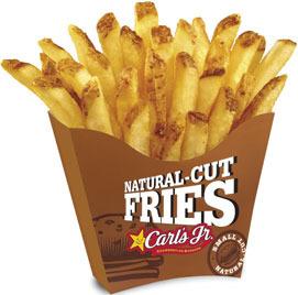 Carl S Jr Natural Cut Fries