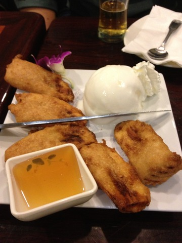 Fried Bananas at Ayara Thai Cuisine