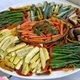Beautiful colors of these roasted veggies and so yummy!  You could tel the dip had fresh dill & lemo - Roasted veggie tray with dil lemon dip at Nancy's Fancy's Cakes & Catering