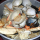 Trio of delicious seafood steamed in a bordelaise style sauce... - Family Bucket of Steamed Clams, Crab and Mussels at By-Th'-Bucket Bar and Grill
