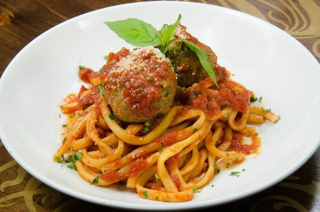 Spaghetti and Meatballs at Lhardy Kitchen + Bar