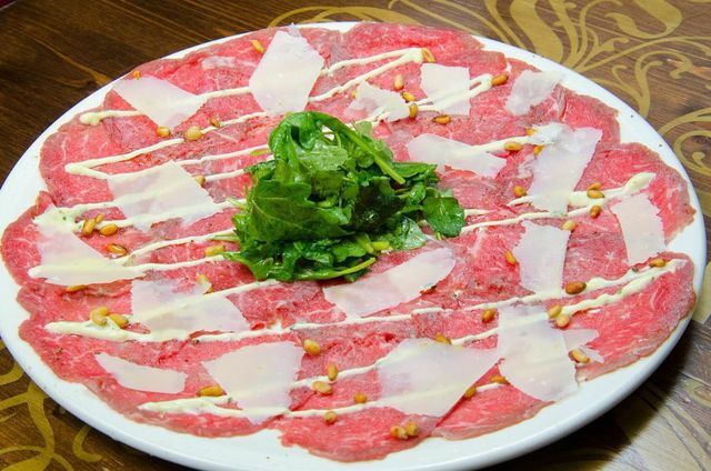 Beef Carpaccio at Lhardy Kitchen + Bar