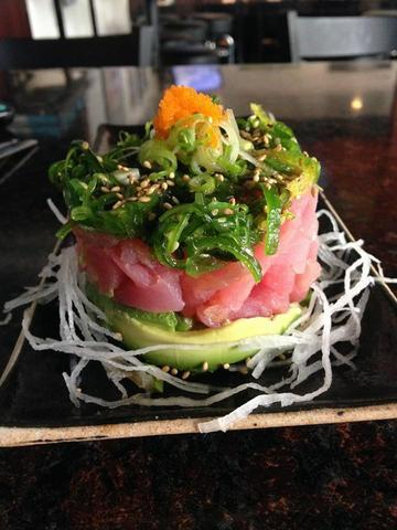 Seaweed Poke Salad at Sushi Kawa Sports Bar and Grill