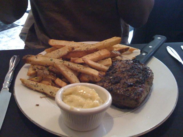 Steak Frites at Entre Nous