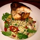 Succulent Tender Rotisserie Half Chicken with Delicious Barley Salad - Rotisserie Chicken with Barley Salad at Houston's