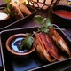 Potstickers and Vegetable Spring Rolls - Dish at RockSugar Pan Asian Kitchen
