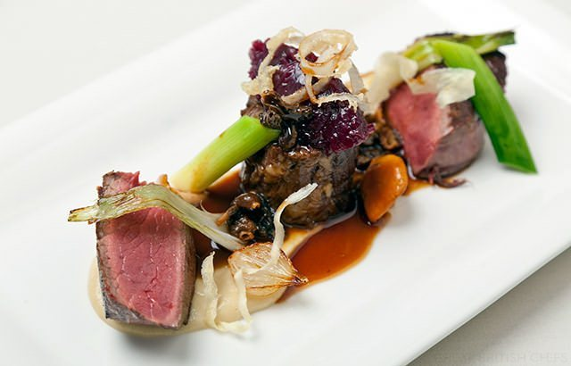 Photo of Roasted Beef Filet With Wild Mushroom & Oxtail Pastry