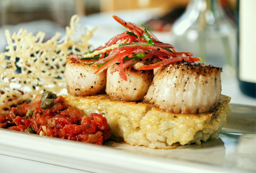 On the Dinner Menu - Sea Scallops at Cafe Murrayhill
