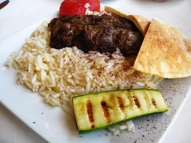 Lule Kebab Entree At Mediterranean Garden Grill