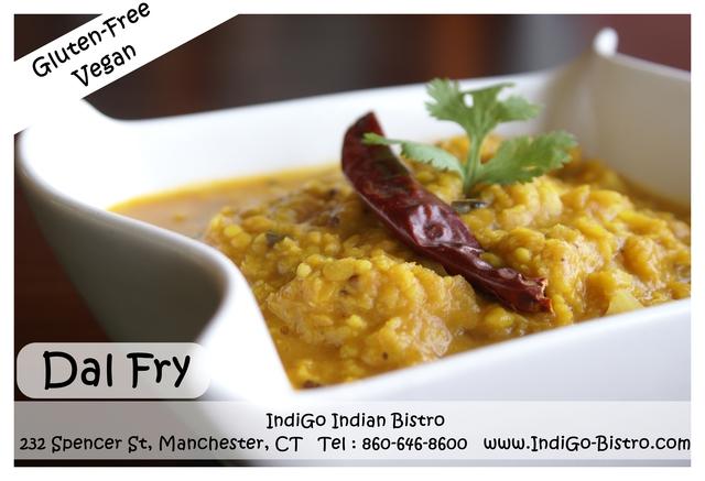 Dal Fry (Gluten-Free, Vegan) @ IndiGo Indian Bistro - Manchester CT at IndiGo Indian Bistro