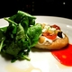 Grilled Leek & Sheep's Feta Tart at Saffron Restaurant & Lounge