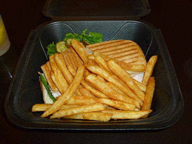 pesto turkey sandwich at Old Mattress Factory Bar & Grill