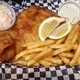 "Giant Fish & Chips  - Dish at Lum's ""Home of the Famous Roast Beef Sandwich"""
