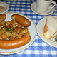 Sausage Plate at Kuhn's Delicatessen