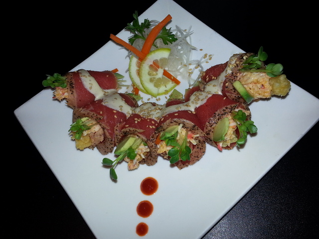 Our Signature roll - The Ryan Wrap at Sushi Kawa Sports Bar and Grill