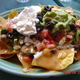 Nachos with 'chorizo' - Nachos at Chicago Diner
