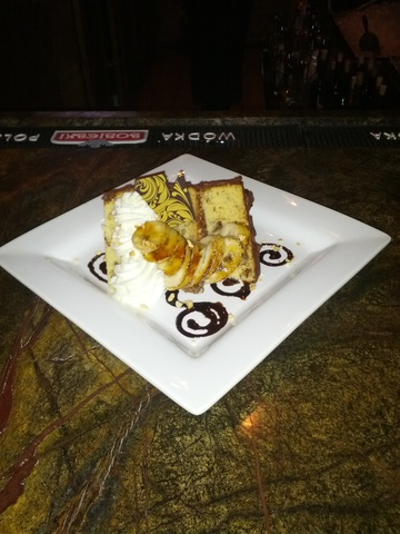 Photo of Banana & Chocolate Triple Layer Cake w/ Carmelized Banana's & Banana Whip Cream