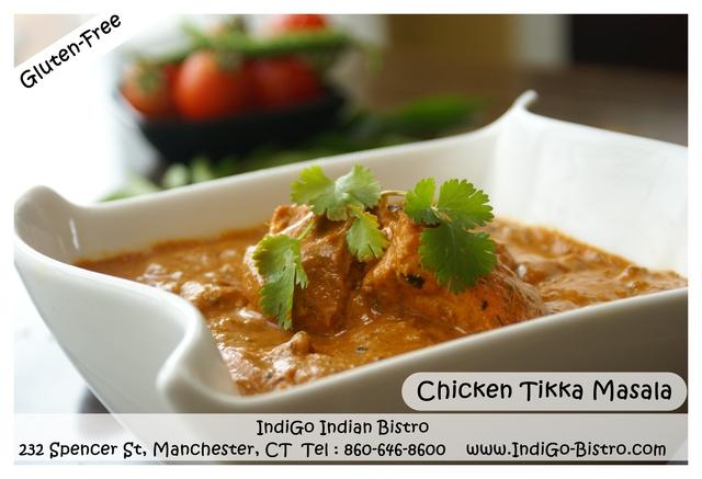 Chicken Tikka Masala (Gluten-Free)@ IndiGo Indian Bistro - Manchester CT at IndiGo Indian Bistro