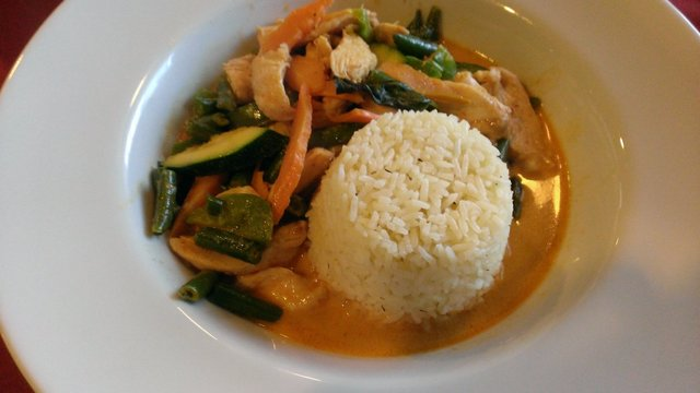 Chicken Red Curry at Basil Continental & Oriental