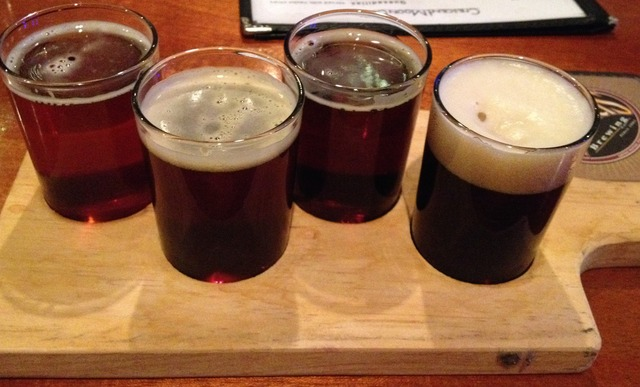 Founder's Brewery big & bold flight - Beer flight at Crescent Moon Cafe