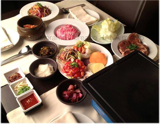 Grill on the table - Bibimbab at HANA Ristorante Coreano