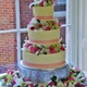 This cake was Gorgeous by Nancy's Fancy's, and was at a wedding at a local historical Inn. - Wedding cake at Nancy's Fancy's Cakes & Catering