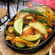 Plenty for two - Vegetable Fajitas at El Gato Negro